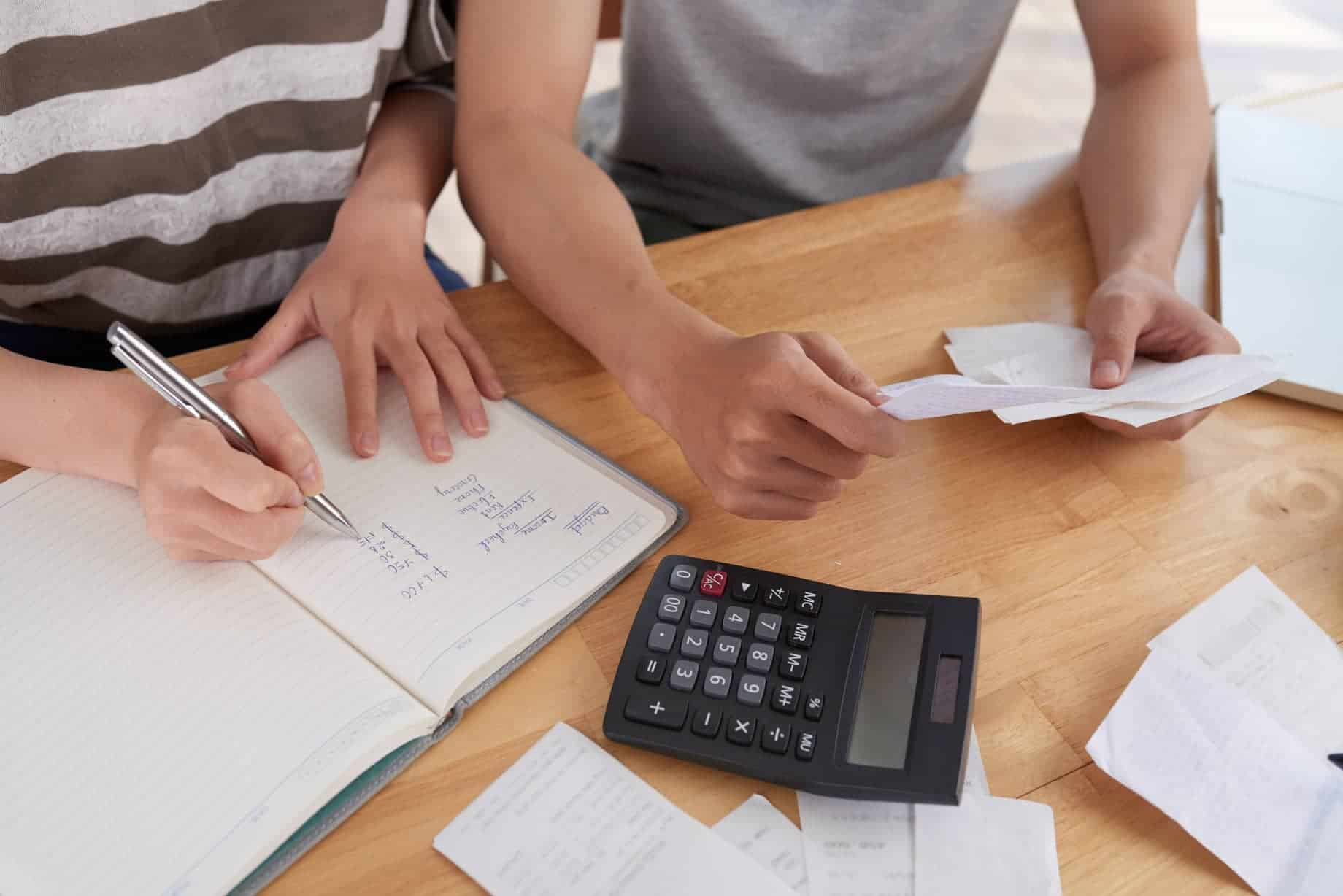 people keeping records expenses