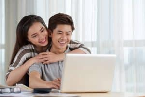 asian couple spending time together