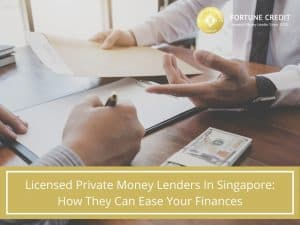 Licensed moneylenders offering loan contract to borrower